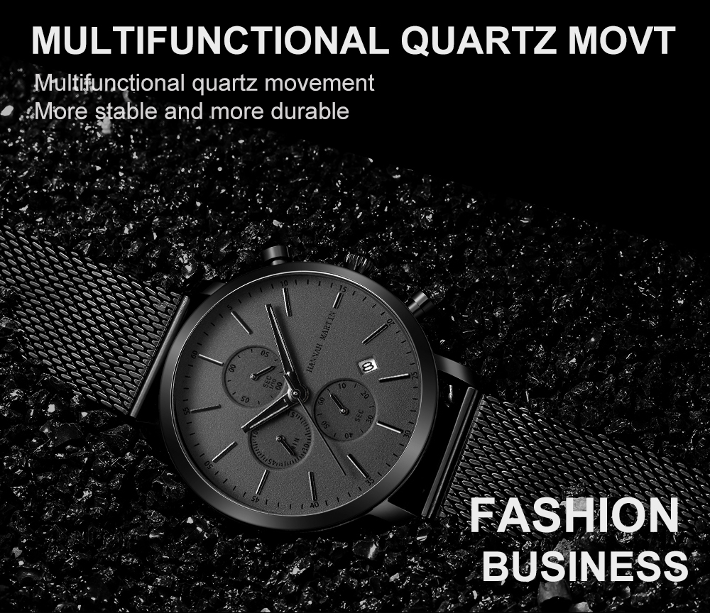 Men Watche Top Brand Fashion multifunction small dial Stainless Steel Mesh business Waterproof Wristwatches Relogio Masculino Hd47c5d3bf3c24cfb868f4ce74d917dbeA