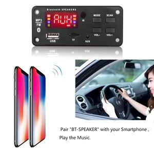 Image 5 - شاشة كبيرة سيارة الصوت USB TF راديو FM وحدة سماعة لاسلكية تعمل بالبلوتوث 5 فولت 12 فولت MP3 WMA فك مجلس مشغل MP3 مع جهاز التحكم عن بعد