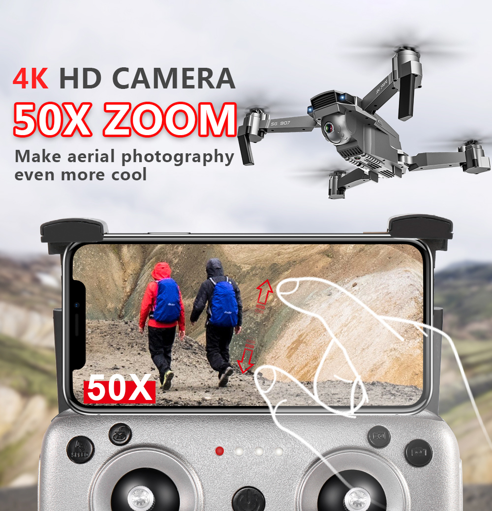 Profession GPS Drone with 4K HD Dual Camera Wide Angle Anti-shake Double GPS WIFI FPV RC Quadcopter Foldable Follow Me-5