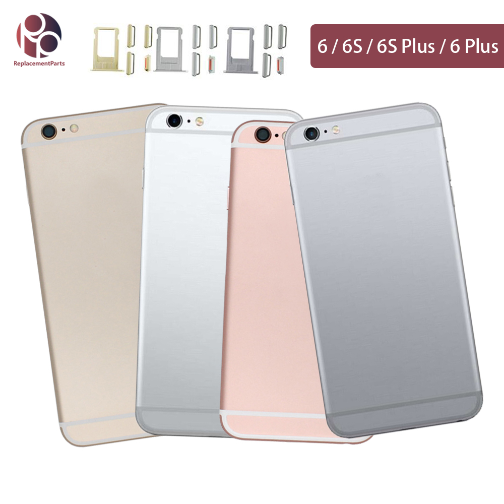 Back Housing For IPhone 6G / 6S / 6 Plus / 6S Plus Battery Rear Door Cover Middle Frame Chassis Body + IMEI Replacement
