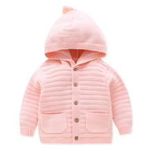 Children hooded cardigan sweater for baby boys girls toddler kids winter autumn fall tops clothes coat sweaters
