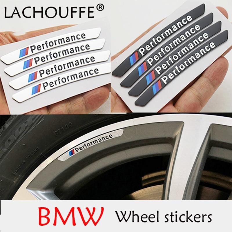 Coche pegatina llantas de ruedas pegatina de coche de carreras de rendimiento para BMW e46 e90 e60 e39 f10 f30 e36 f20 e87 x5 e70 e30 e92 g30 e34