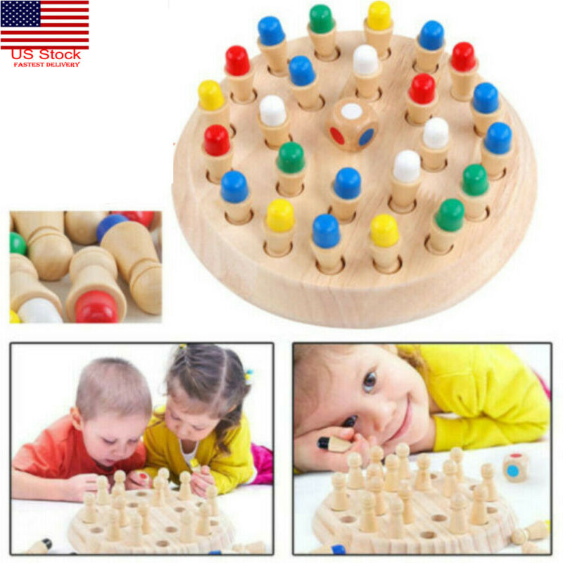 2020 Baby Education Toys Wooden Memory Match Stick Chess Game Children Kids Puzzle Educational Toys   Learning & Education