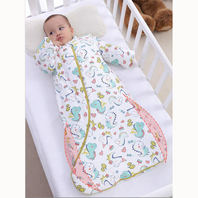Autumn Winter Cotton Baby Toddler Slumber Stroller Sleepsack Detachable Sleeve Boys Girls Baby Kids Baby Sleeping Bag Sleepsacks