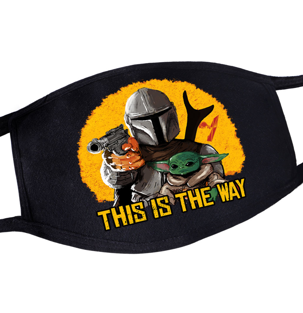 This Is The Way Star War New Tv Show Young Yoda Reusable Dustproof Masker Maseczki Casual Masque Maske Mandalorian Mouth Masks