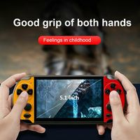 1 5 lcd X7 Plus 5.1 Inch LCD Screen Game Machine Double Rocker Handheld Retro Video Game Console with 10000 Games Gaming Accessories (1)