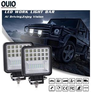 Image 4 - 12V 24V LED Work Licht 4x4 Auto Zubehör Fahr Licht Bars Offroad Scheinwerfer Spot Flut combo Beam Fog Licht Lkw Boot Lampe