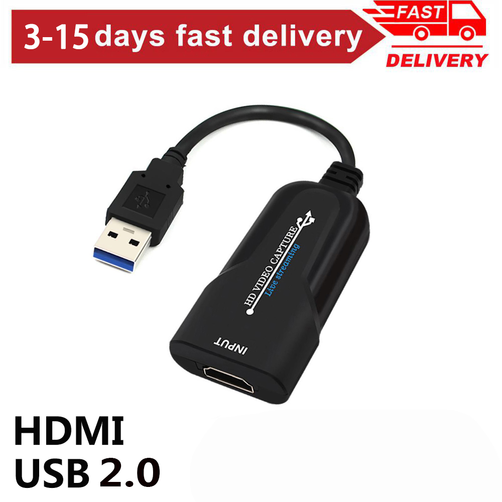 USB 2.0 <font><b>HDMI</b></font> <font><b>Video</b></font> <font><b>Capture</b></font> <font><b>Card</b></font> <font><b>HDMI</b></font> to USB <font><b>Video</b></font> Grabber for Phone Game Live Broadcasts <font><b>Video</b></font> Recording Streaming 1080P 60fps image