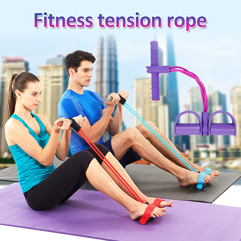 2020 Multifunctional Tension Rope Fitness Yoga Resistance Band Latex Pedal Exerciser Tension Rope Home Fitness Outdoor