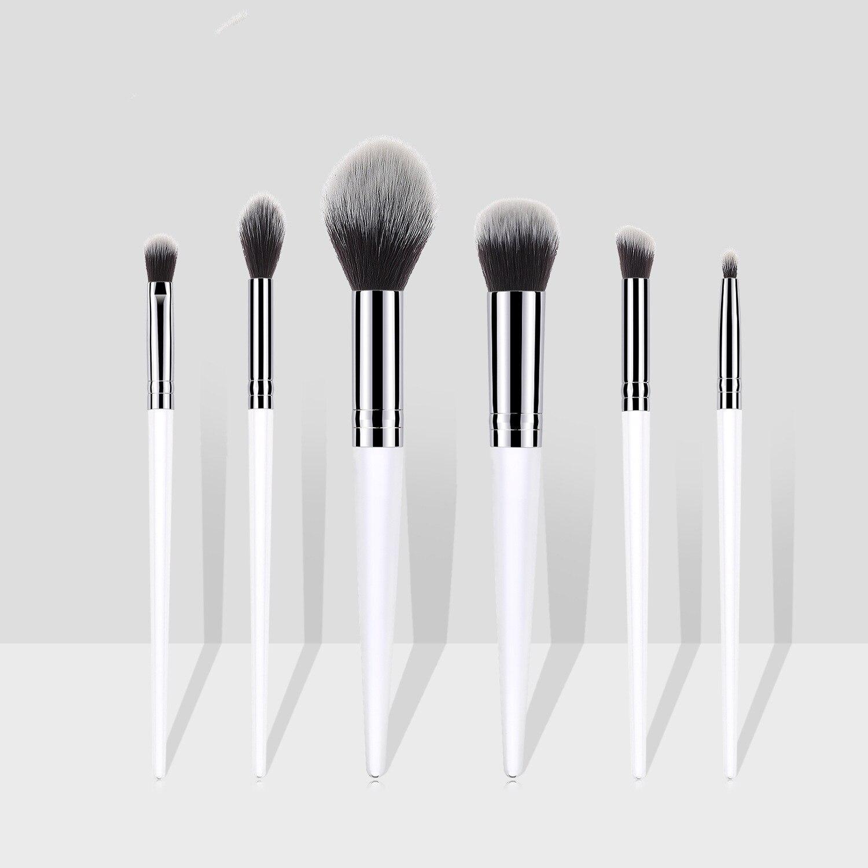 Набор кистей для макияжа с прозрачной акриловой ручкой,