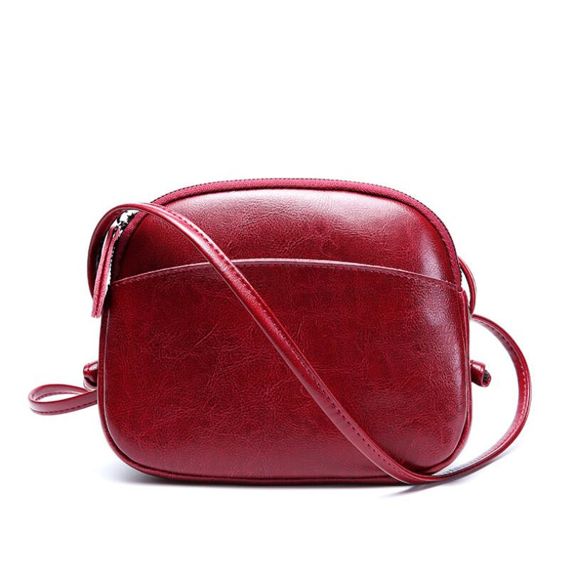 FoxTail & Lily Women Messenger Bag Genuine Leather Small Shell Bag Vintage Shoulder Bag Ladies Handbags Luxury Purse Women Bags