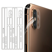 Новинка, ультратонкая прозрачная наклейка для iPhone X, XS, MAX, боковая пленка, наклейка для iPhone 11, 11Pro, Max, ледяная пленка, наклейка