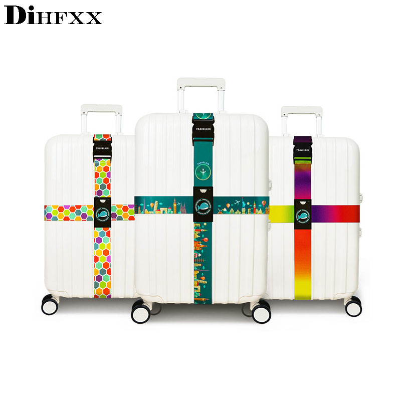DIHFXX Brand Luggage Cross Belt Adjustable Travel Suitcase Band Luggage Suitcase Rope Straps Travel Accessorie High Qualit Viaje