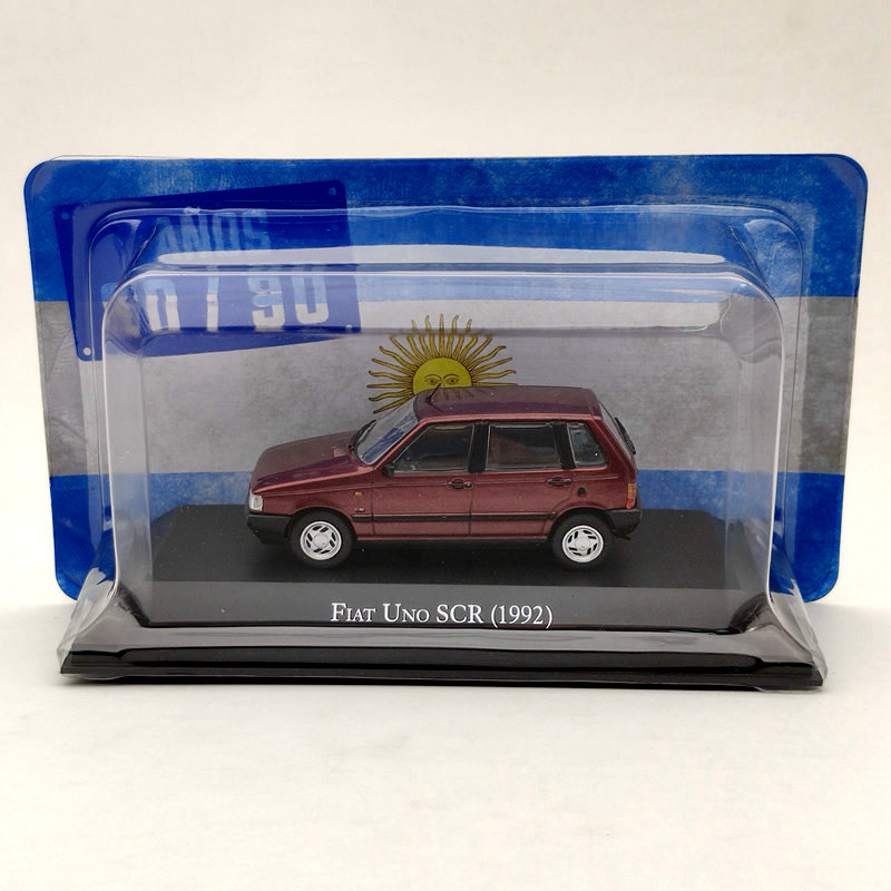 IXO 1/43 For Fiat Uno SCR 1992 Red Diecast Models Limited Edition Collection