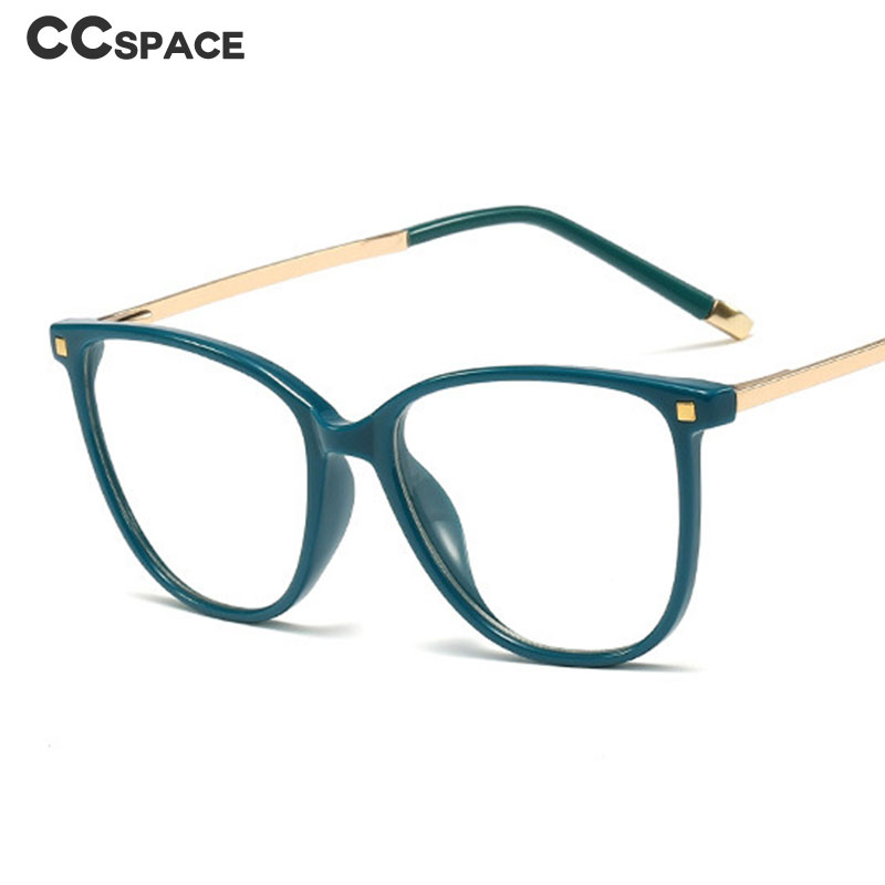 45623 Square Rice Nail Glasses Frames Narrow Acetic Acid Metal Women Rivet Styles Optical Fashion Computer Glasses