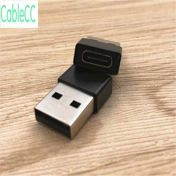 100pcs/ Xiaomi Samsung Galaxy S8 S9 Huawei P20 C-type adapter USB C female to USB2.0 male converter C-type OTG cable