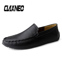 CLAXNEO Man Moccasins Slipons Design Casual Shoes Male Boat Shoe Leather Loafers Big Size Breathable