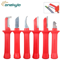 31HS German Style  Electrical Insulation Cable Knife Wire Stripper Patent Stripping tools Pliers Blade with Protective Cap