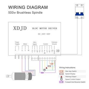 Image 5 - Daedalus kit de motor sem escova, 500w, refrigerado a ar, eixo er11 55mm, máquina de fresagem, suporte para cnc, fresagem ferramenta máquina