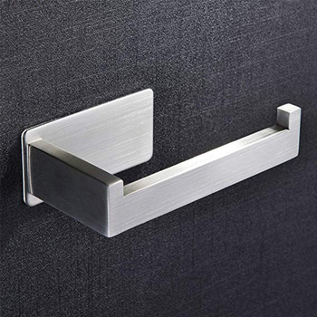 Toilet Paper Holder Stainless Steel With Hook Paper Towel Holders For Kitchen Bathroom Toilet Roll Holder Wall Mounted