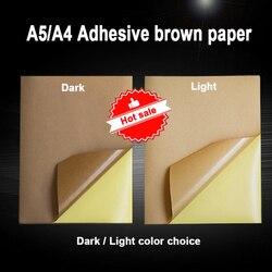 20 50 листов 80 г A4 A5 коричневая крафт-бумага самоклеющаяся наклейка печатные этикетки для струйной лазерной печати копир крафт-бумага
