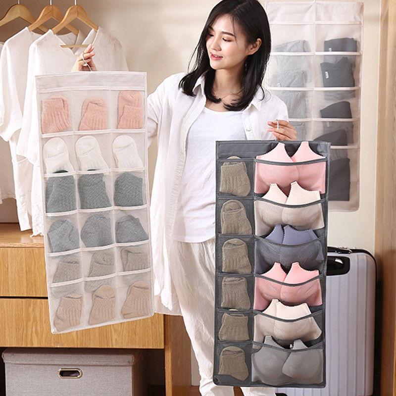 NoEnName-Null Women Bra Underwear Socks Clear Hanging Bag Dustproof Cover Bags Suit Home Storage Organizer Protector 80*40cm