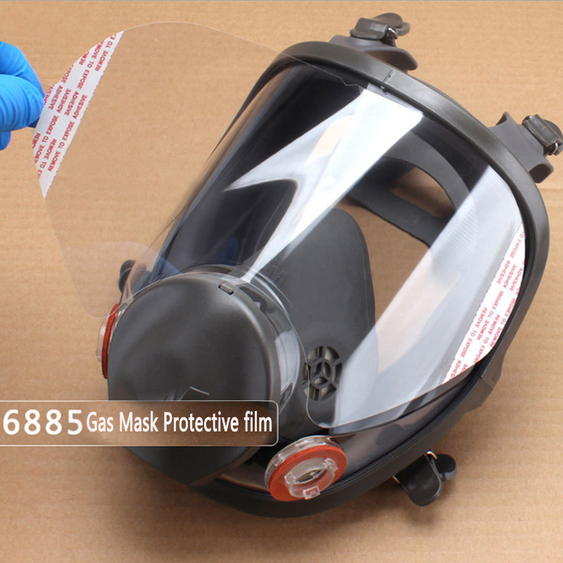 5/10/15/25\ pcs/pack 3M 6885 Windows protective film RESPIRATOR LENS COVER USE For 3 M <font><b>6800</b></font> Dust Mask image