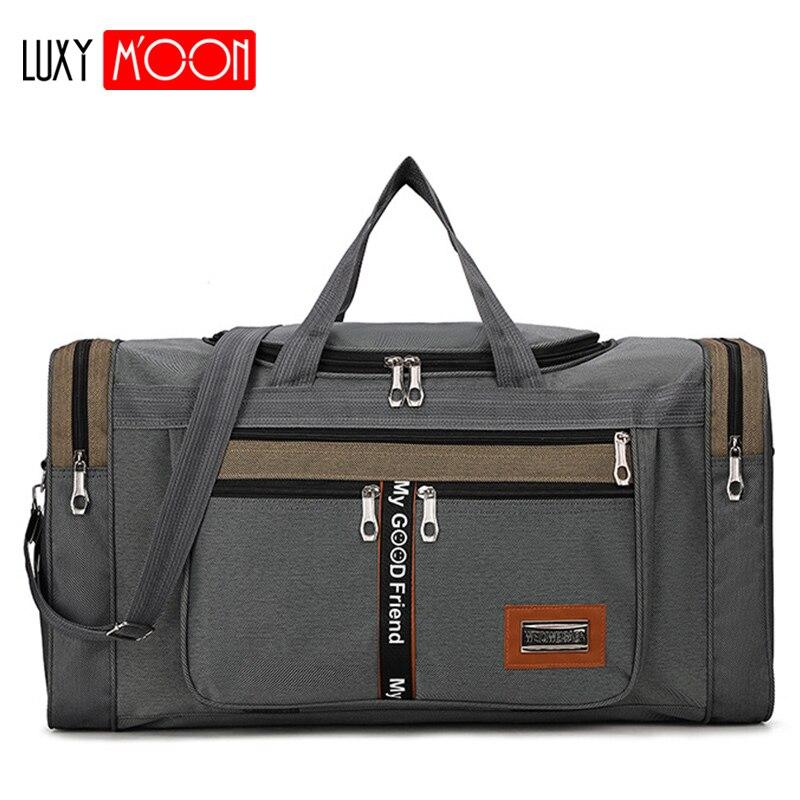 Grande capacidade de moda saco de viagem para o homem saco de fim de semana das mulheres grande capacidade saco de viagem portátil de náilon carry bags xa156k