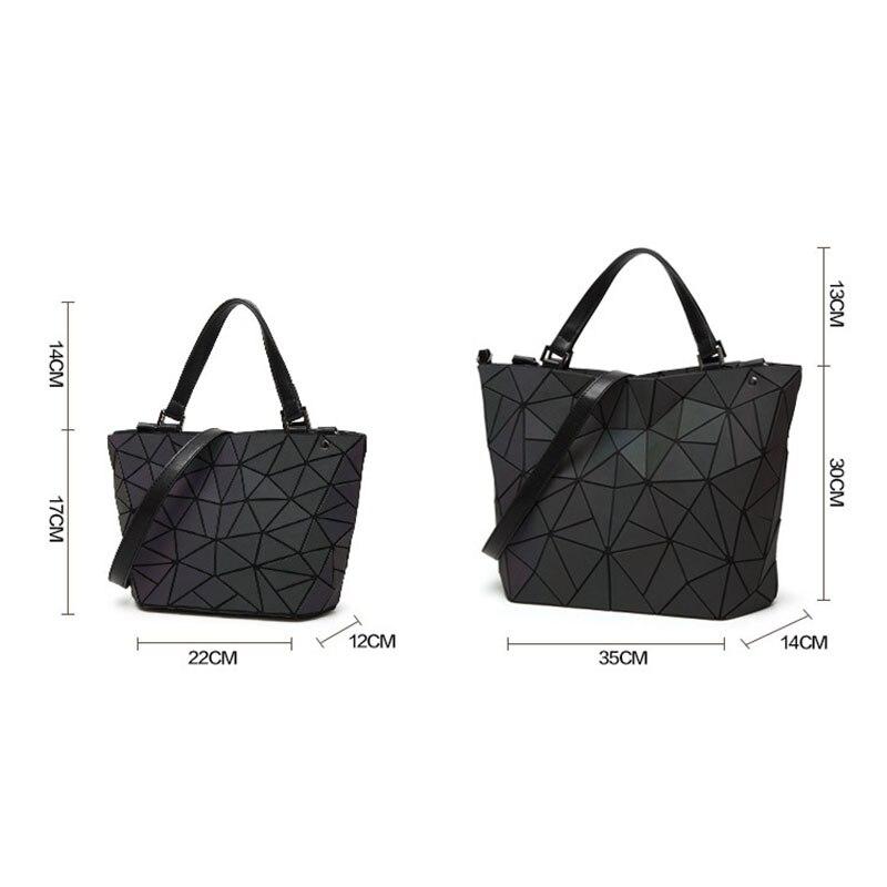 Image 5 - Women Handbags Luxury Designer Punk style Fashion Shoulder Bag Triangle Luminous Tote Folding Crossbody Bag Matte Texture PurseShoulder Bags   -