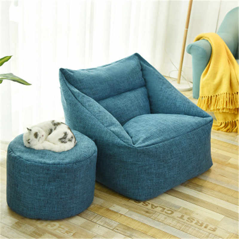 Large Bean Bag Cover No Filling Washable Cover Sofa Chair Cover Beanbags Couch For Adults Puff Sofas Lounger Tatami Indoor Seat