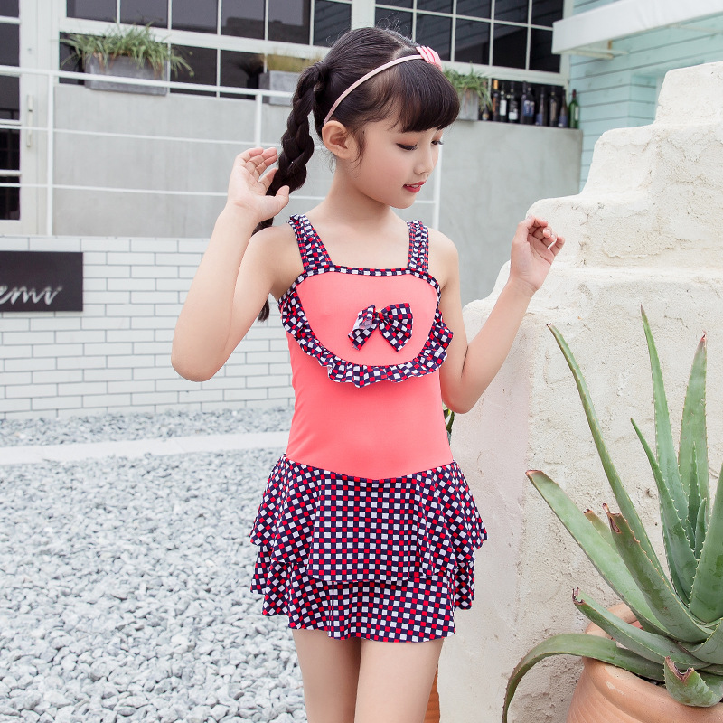 One-piece Swimsuit For Children Girls Boxer Skirt Children Big Kid Princess Skirt Beach Swimwear Nt108819