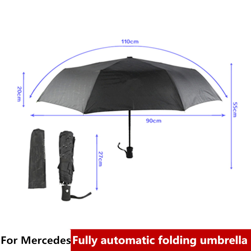 Fully Automatic Car Logo Umbrella Sticker For Mercedes Benz W164 W215 AMG R350 R300 R320 R400 R500 ML500 ML350 ML320 ML300 ML450