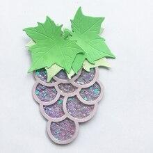 Штампы трафарет для скрапбукинга встряхнуть виноградные фрукты рамка для резки металла штампы ремесло штамп высечки Рождество Свадьба открытка изготовление
