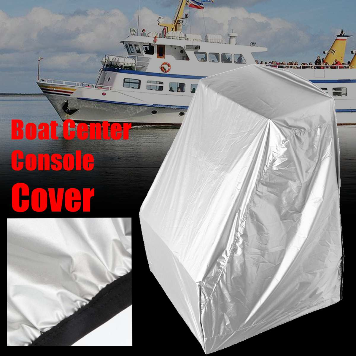 45x46x40 Inch Large Waterproof Dust Boat Cover Yacht Center Console Mat Anti UV Sunlight Keep Dry Clean Folding Polyeste