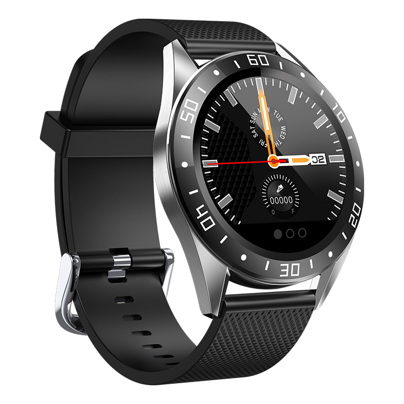GW15右-黑 Montre intelligente IP68, montre de Fitness