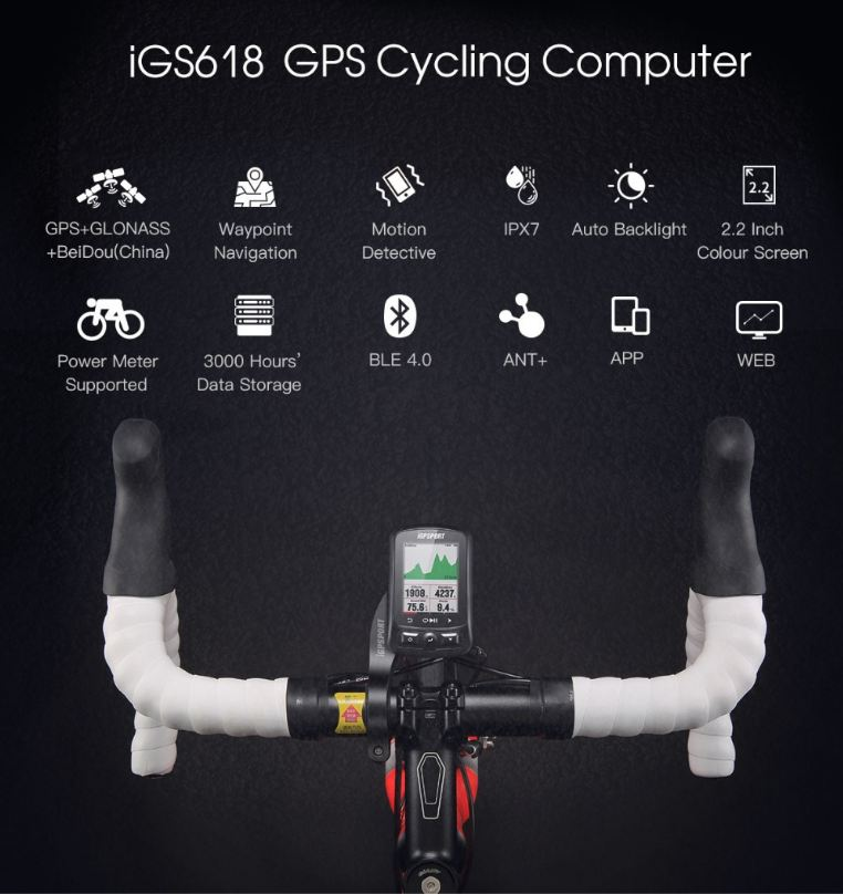 Image 3 - iGPSPORT  iGS618 gps cycling computer Speedometer IPX7 with AccessoriesBicycle Computer   -