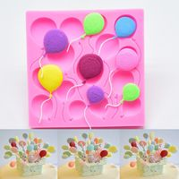 3Pack Hot Air Balloon Silicone Fondant Molds for Wedding Baby Shower Cake Cupcake Topper Chocolate Candy Decoration