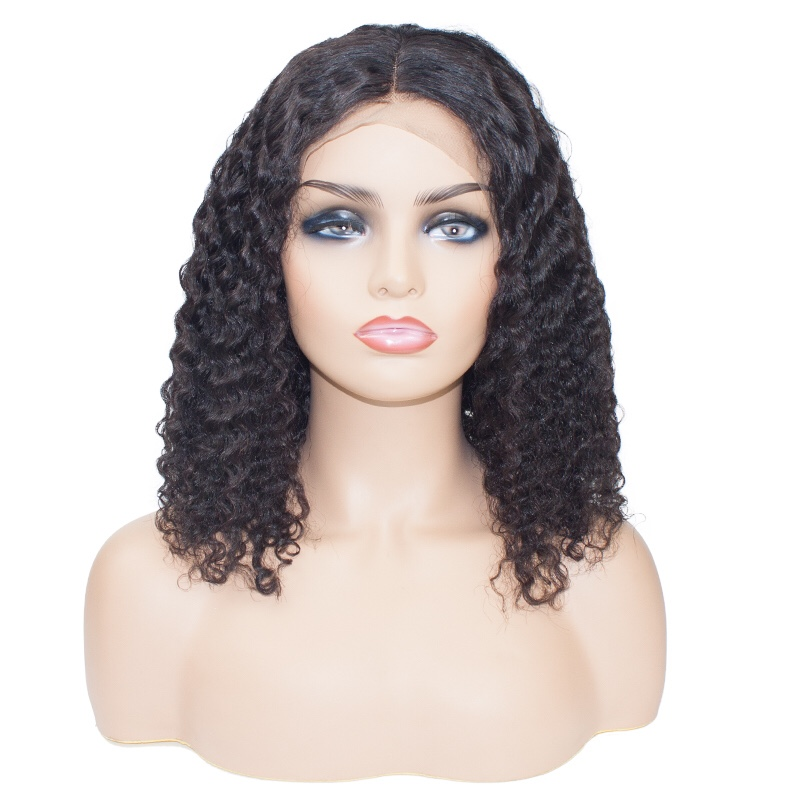 Hd47f1d305ba94006926aad18866b2255M Short Bob Water Wave 13x6 Lace Front Wig For Black Women Brazilian Human Remy Natural Curly Hair Hairline Pre Plucked Addbeauty