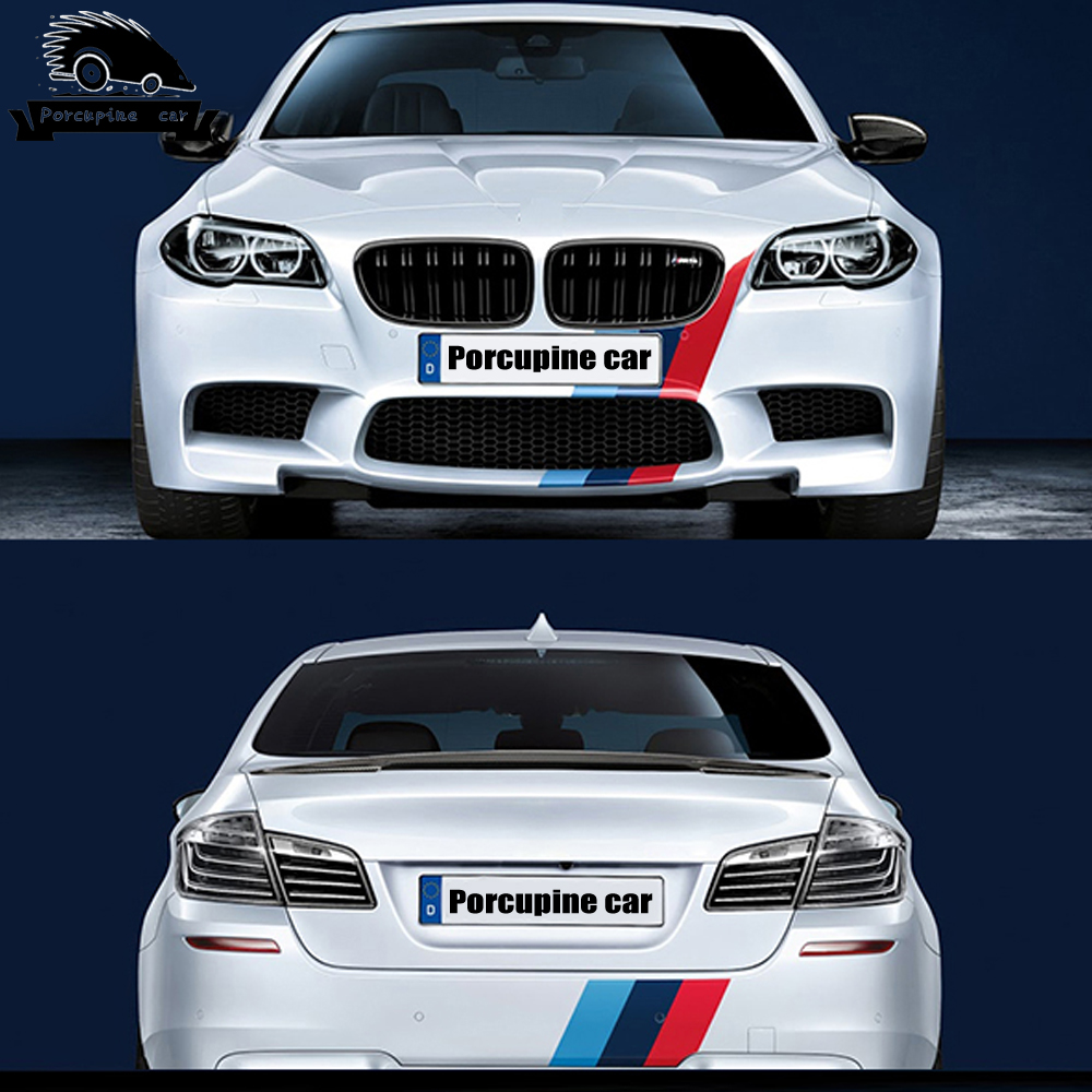 M производительность автомобиля Наклейка в полоску капота для BMW 1 2 3 5 7 E38 E39 E46 E53 E60 E61 E64 E70 E71 E85 E87 E90 E83 F10 F30 F20 F35 GT