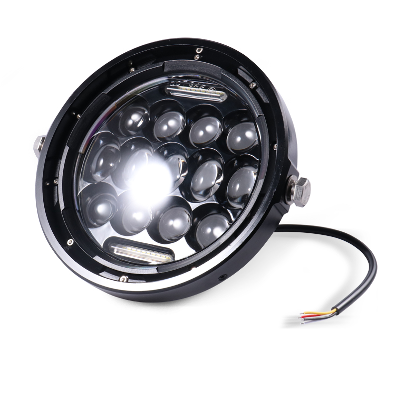 cheapest 6 5   Motorcycle Cafe Racer Vintage Universal LED Protection Headlight High Low Beam For Harley Choppers Custom Honda Yamaha