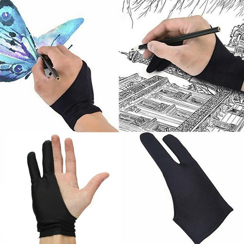 Single-fitting Anti-fouling Painting DrawingTwo-finger Gloves Painting Anti-wear Sketch Oil Painting Artist Drawing For Drawing