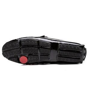 Image 5 - Mocassins italiens en cuir véritable pour homme, chaussures élégantes et tendance, décontracté, grande taille, EUR 38 48