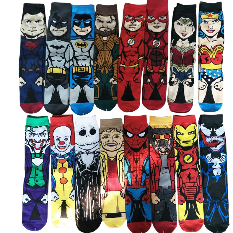 New Men Cartoon Sock Street Skateboard Socks Hip Hop Creative Soft Comfortable Funny Novelty Star Wars Socks