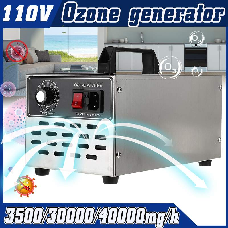 3.5g/30g/40g/h 220V/110V O3 Air Ozone Generator Air Purifier Sterilizer Ozonator Ozonizer Cleaner Sterilizer With Timing Switch