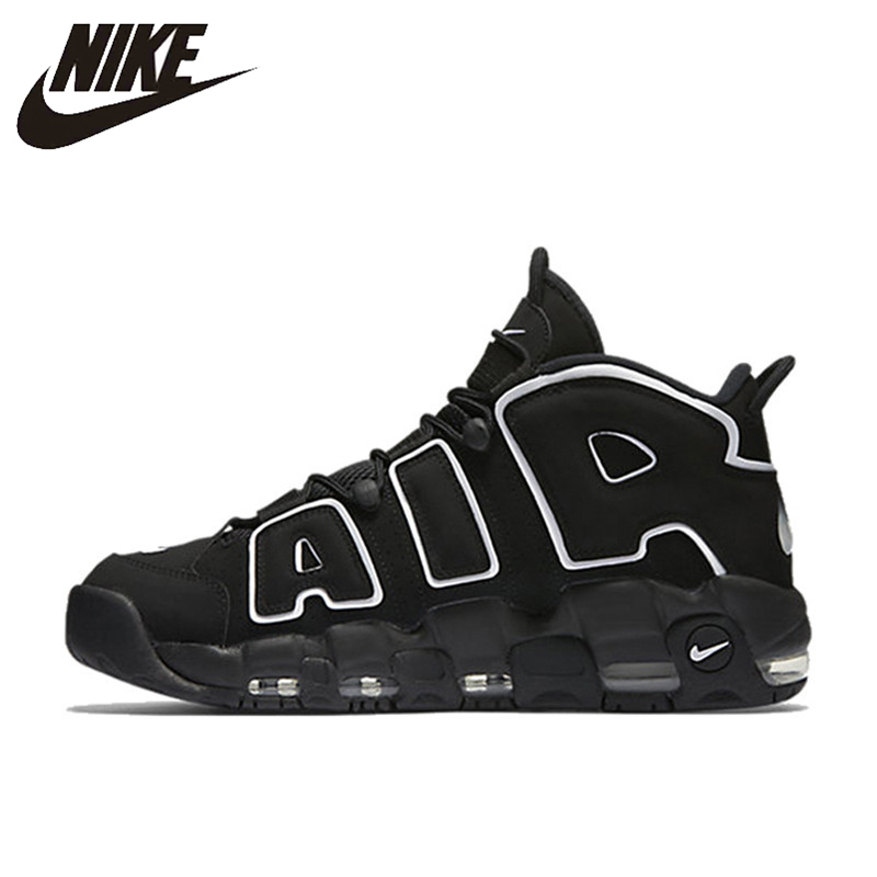 Nike Basketball-Shoes Sport-Sneakers Athletic-Designer More Uptempo 414962-002 OG Breathable