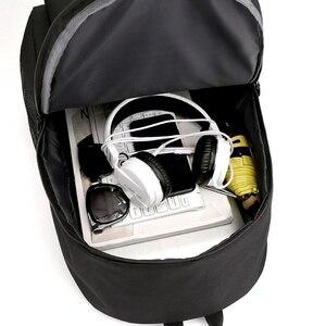 Image 4 - AJAX Student School Backpack Teenage Girl Boys Bookbag USB Anti theft Laptop Canvas Waterproof Backpack for Men