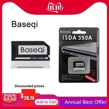 מקורי Baseqi אלומיניום MiniDrive MicroSD כרטיס מתאם עבור משטח ספר Lenovo יוגה Dell XPS & Asus Zenbook Flip מחשב נייד 13.5 אינץ