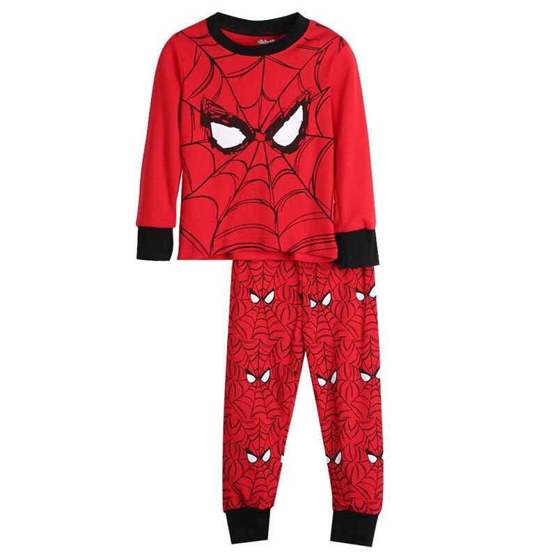 Baby Jungen Mädchen Kinder Kleidung Kleinkind Winter Baumwolle Pyjamas 2PCS Set Spider-Man Cartoon Print Nachtwäsche Nachtwäsche Pyjamas set 2-8Y