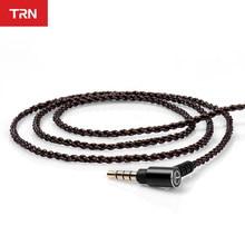 TRN A5 4 Core OCC Kupfer Kabel/3,5 MM Mit QDC 2PIN Stecker Verbesserte Kabel Kopfhörer Kabel Für BA8 TRN V90S VX BA5 ST1