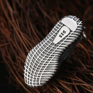 Image 5 - Vintage S925 ayar gümüş takı moda erkekler için Sneakers erkek kadın kadın kolye anahtarlık takı hediye